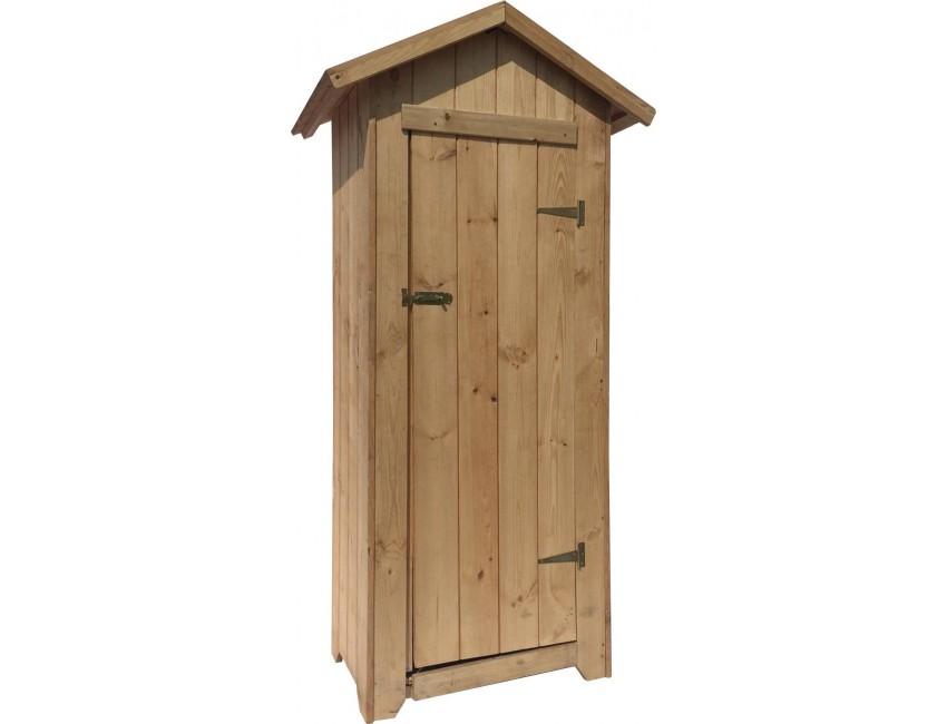 Armadio 1 da esterno 63x48x180h cm in legno - Armadio in legno da esterno ...