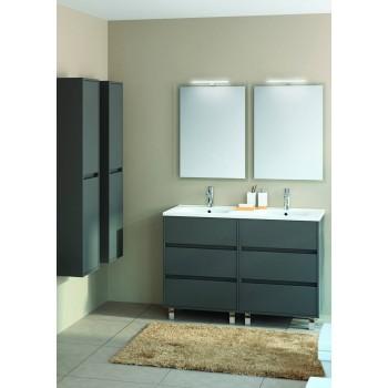 Mobile bagno 1200 in legno grigio opaco con lavabo Arenys