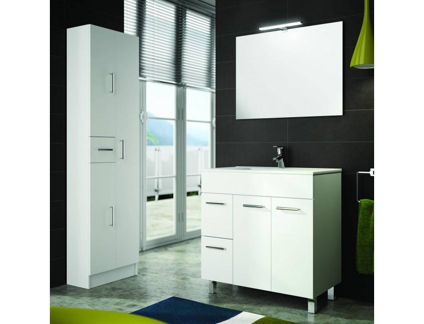 Mobile bagno 800 in legno bianco con lavabo Terra Accesorio Standard