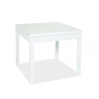 Tavolo Firenze 90x90 cm allungabile bianco frassinato