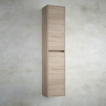 Colonna bagno sospesa in legno marrone Caledonia Noja