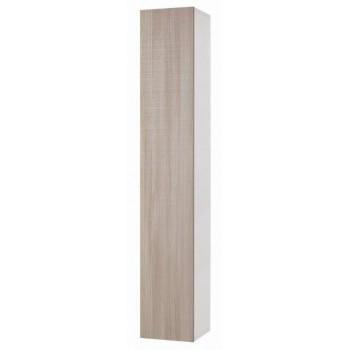 Pensile 30x180 in legno bianco con anta olmo