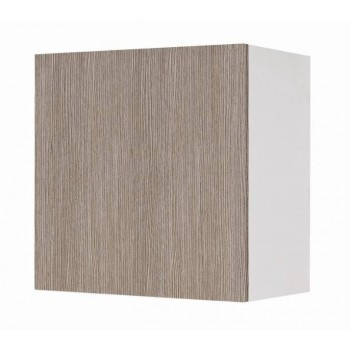 Pensile 60 in legno bianco con anta larice grigio