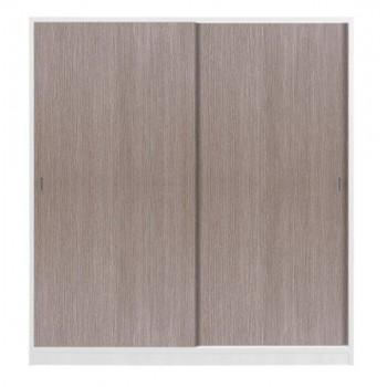 Armadio in legno bianco con 2 ante scorrevoli larice grigio
