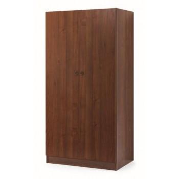 Armadio 90x180 in legno noce antico con 2 ante