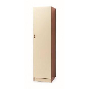 Colonna armadio 45x180 in legno ciliegio con anta magnolia