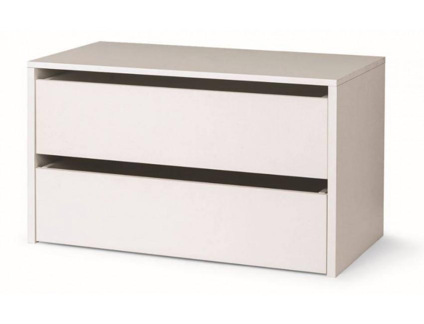 Cassettiera per armadio in legno bianco 2 cassetti - Cassettiera per cabina armadio ...