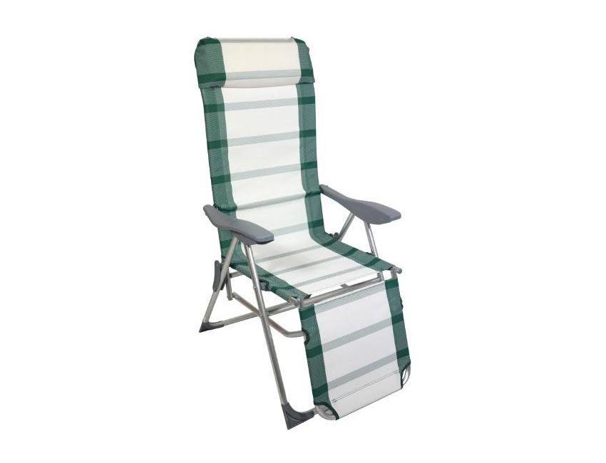 Sedie Sdraio Alluminio Con Poggiapiedi.Set 4 Poltrone 5 Posizioni Con Poggiapiedi In Alluminio Colore