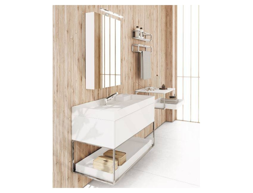 Cosmic mobile con lavabo 100 bianco lucido The Grid