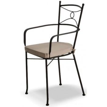 Sedia Asco in acciaio galvanizzato con braccioli