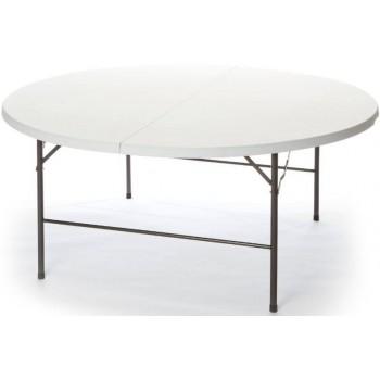 Tavolo Plastik 160 in ferro e HDPE