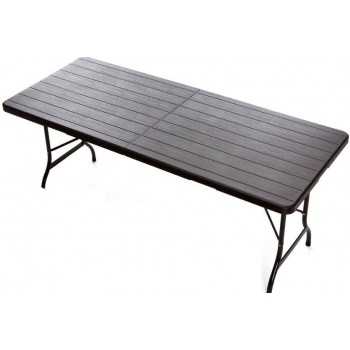 Tavolo Plastik Wood 180 in ferro e HDPE