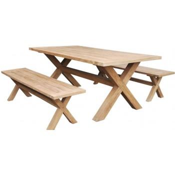 Tavolo Batu 200 in legno Teak