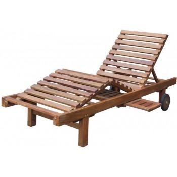 Lettino Sabang in legno Teak
