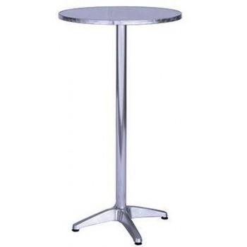 Guidetti tavolino Lecce in alluminio rotondo 60 cm