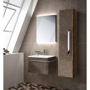 Mobile bagno con lavabo Aradia 600 color Lino Ruggine