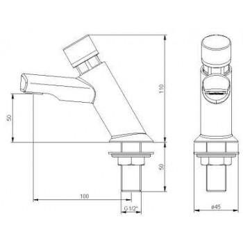 rubinetto temporizzato lavabo serie SMALL