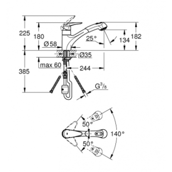 Grohe Eurodisc Miscelatore monocomando per lavello 32257001