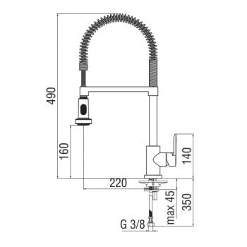 Nobili miscelatore lavello cucina con doccetta a due funzioni New Road RD00300/3CR