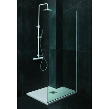 Piatto doccia in ceramica 110x70 cm azzurra ceramica serie Solution