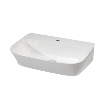 Lavabo sospeso o da appoggio in ceramica 45x75 cm azzurra ceramica serie Prua