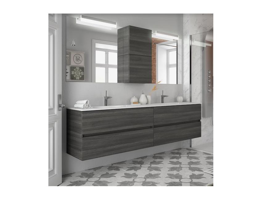 Mobile bagno sospeso 200 cm color alsazia con specchio
