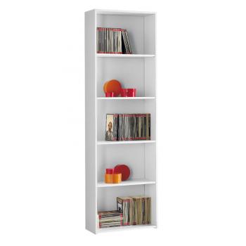 Libreria 55x175 cm Bianco 5 ripiani