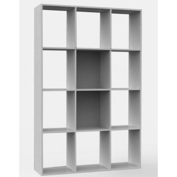 Libreria 110x175 cm Bianco 4 ripiani