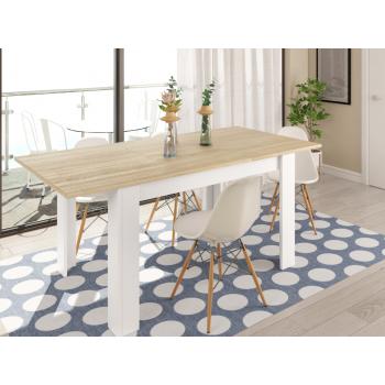 Tavolo Kendra 140 cm rovere chiaro allungabile