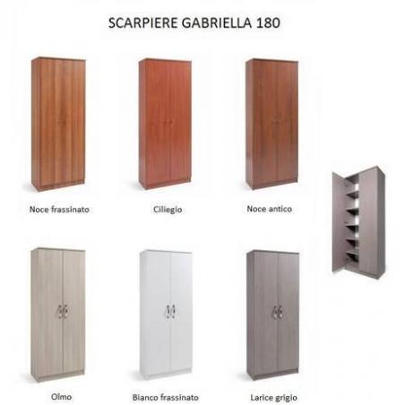 Scarpiera Gabriella 180 bianco frassinato