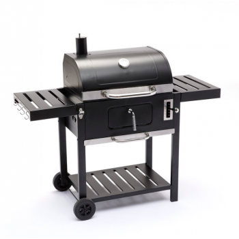 Barbecue a carbonella Bison S in acciaio nero