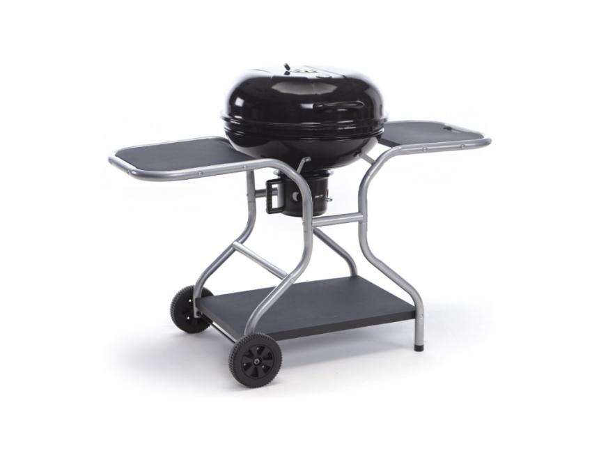 Barbecue a carbonella in acciaio con ruote