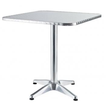 Tavolo quadrato da giardino 60x60 cm in alluminio