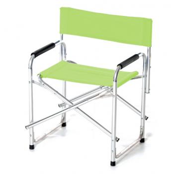 Poltrona Regista pieghevole Verde in alluminio