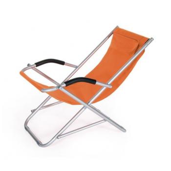 Sedia sdraio Formentera Arancione in alluminio