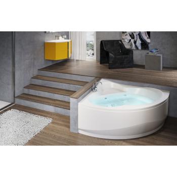 Novellini vasca da bagno angolare semicircolare Una su telaio con 1 pannello