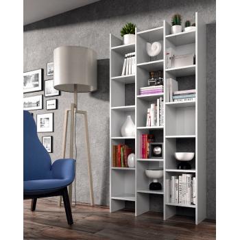 Libreria alta decorativa 192 cm bianco artik