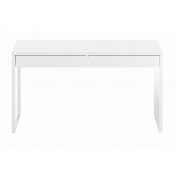 Scrivania 90 cm Bianco artik con ripiano estraibile