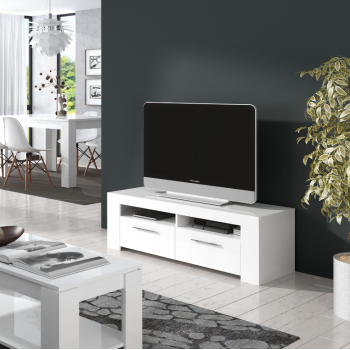 Mobile soggiorno porta Tv Ambit Bianco artik con 2 ante