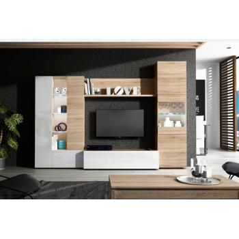 Mobile soggiorno Essential set a parete porta tv