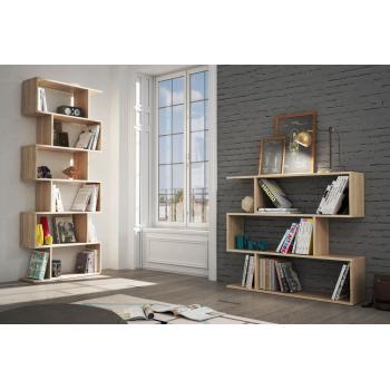 Libreria alta 192 cm Rovere canadian con sei ripiani