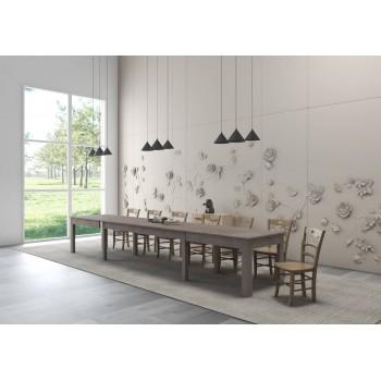 Tavolo Super 4 160x90 cm allungabile larice grigio
