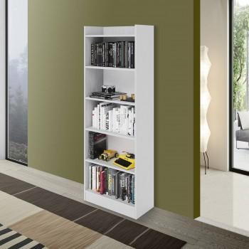 Libreria Alessia 180 cm Bianco frassinato