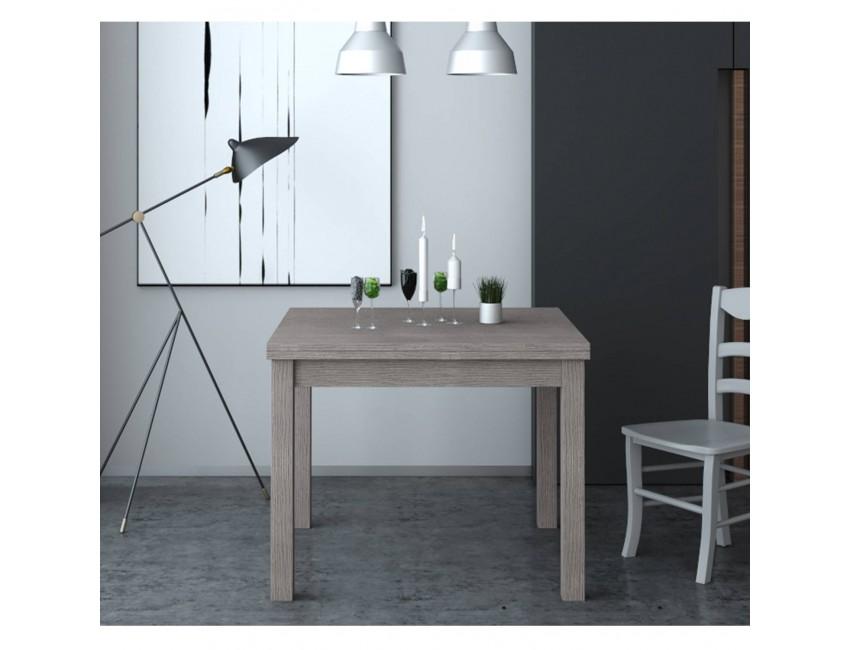 Tavolo Firenze 90x90 cm allungabile larice grigio Colore Larice