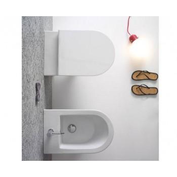 Globo Bidet sospeso monoforo 36x57 cm in ceramica serie Forty3