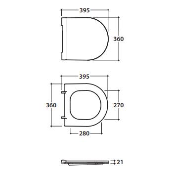 Globo Vaso sospeso 36x43 cm in ceramica serie Forty3