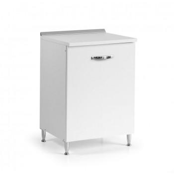 Base cucina 60x50xH85 in legno Bianco Frassinato