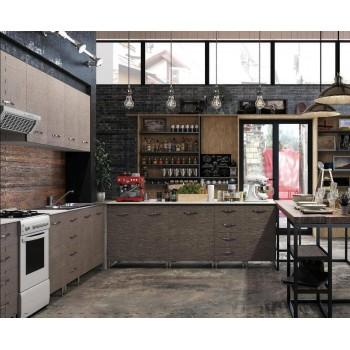 Base cucina 60x50xH85 in legno Larice Grigio