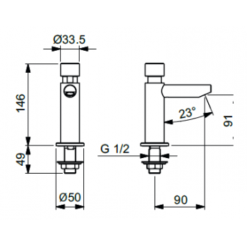 Idral rubinetto temporizzato lavabo Serie Inox 08400