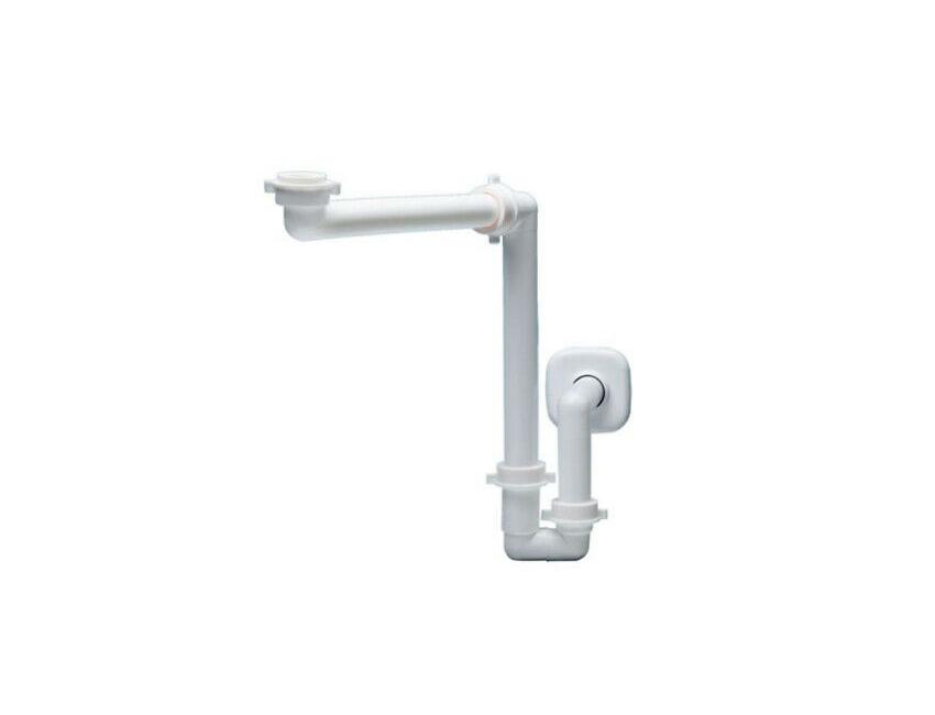 Sifone salvaspazio per Lavabo Ø 40 mm Bianco in polipropilene con attacco 1.1/4